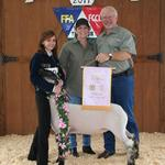 Reserve Champion Lamb - Tristan Talley; Buyer - Spring Carpet