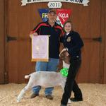 Reserve Champion Goat - Laura McCullar; Buyer - HQM Products