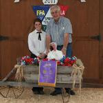 Grand Champion Turkey - Morgan Morell; Buyer - James and Delane Morell