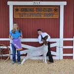 Grand Champion Goat - Clayton Lockwood; Buyer - Danny and Barbara Drake