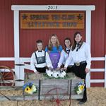 Grand Champion Fryer Rabbits - Lauryn Daniels; Buyers - Danny and Barbara Drake