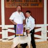 Grand Champion Goat - Clayton Lockwood; Buyer - Premium Air Services